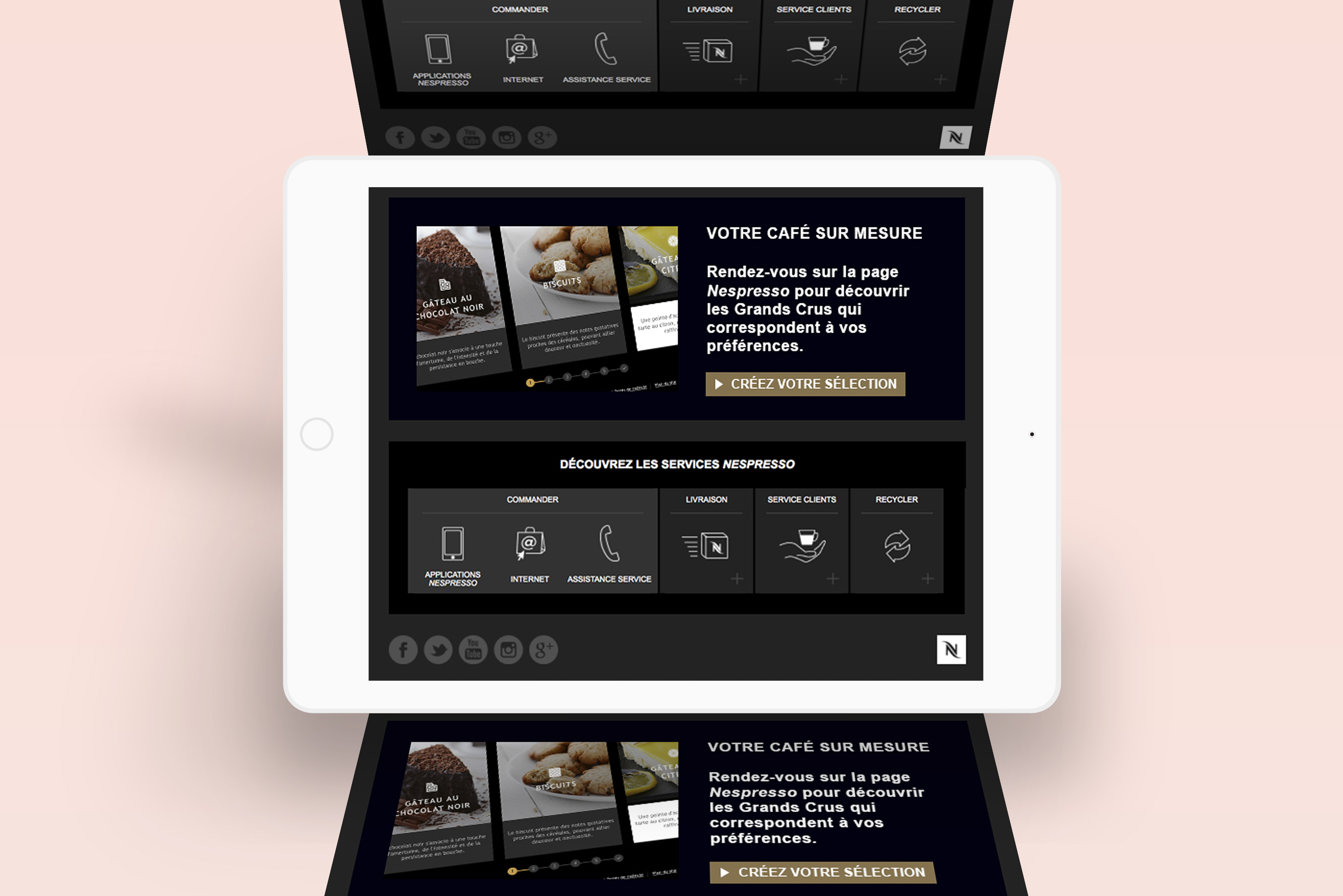 Nespresso web design - Newsletter