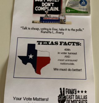 Help GET OUT THE VOTE by distributing FEDDs Flyers!