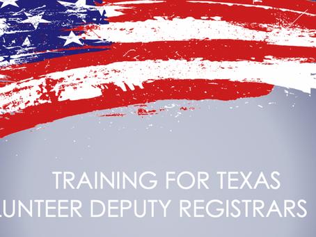 Help turn Texas BLUE (like Georgia) by Registering Voters!