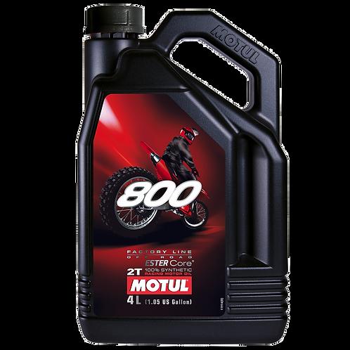 Óleo para Motor Motul 800 2T (100% Sintético) 4L