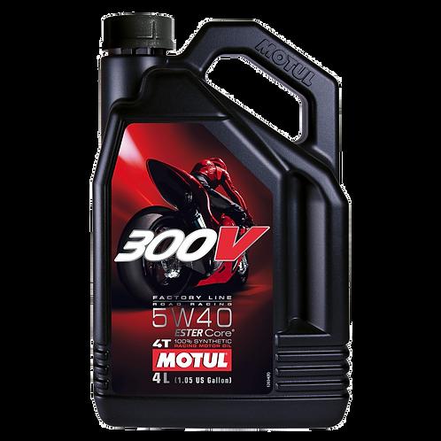 Óleo para Motor Motul 300V Factory Line Road Racing 5W40 (100% Sintético) 4L