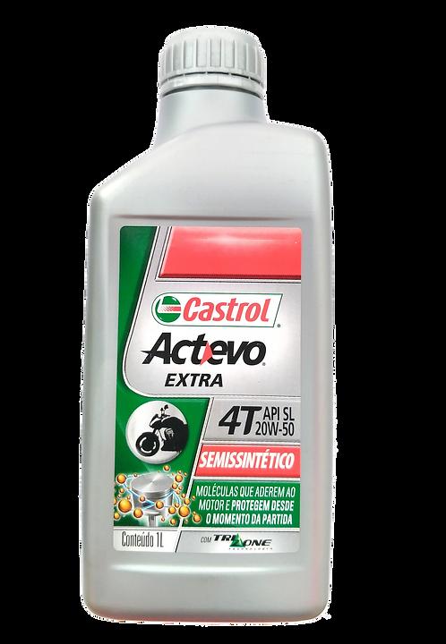 Óleo para motor Castrol Actevo Extra 20W50 (Semi-Sintético)