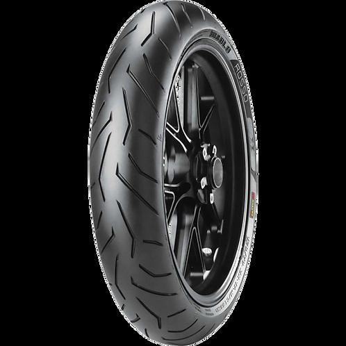 Pneu Pirelli 100/80-17 R Diablo Rosso 2 52H TL (Dianteiro)