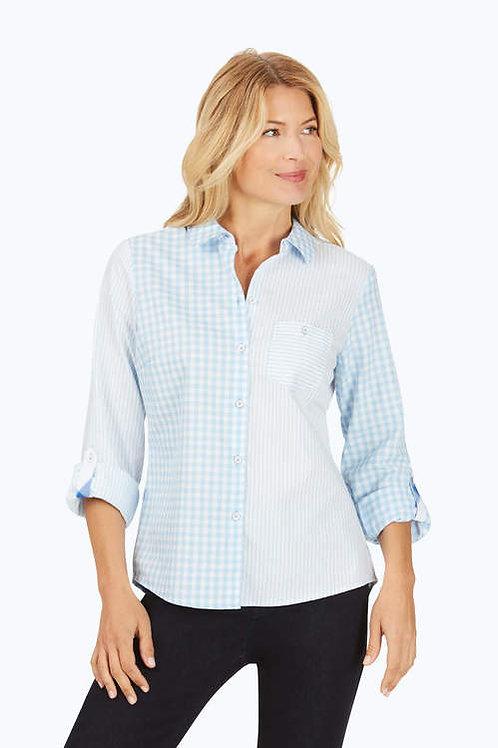 Foxcroft Hampton Wrinkle-Free Pattern Play Shirt