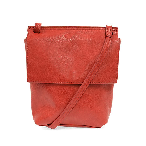 Joy Susan Aimee Front Flap Crossbody - Red