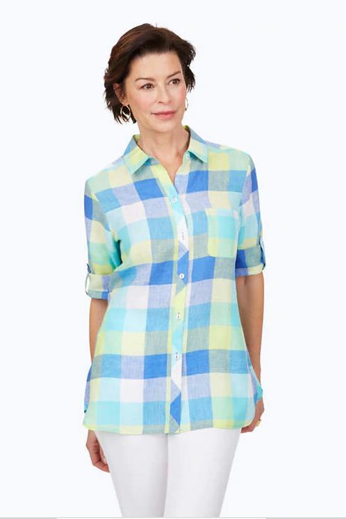 Foxcroft Tamara Easy-Care Linen Shirt