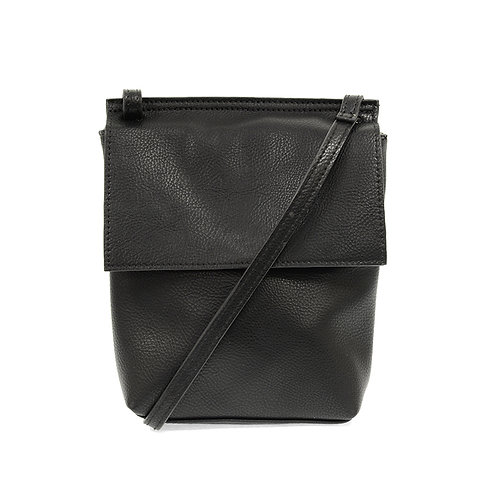 Joy Susan Aimee Front Flap Crossbody - Black