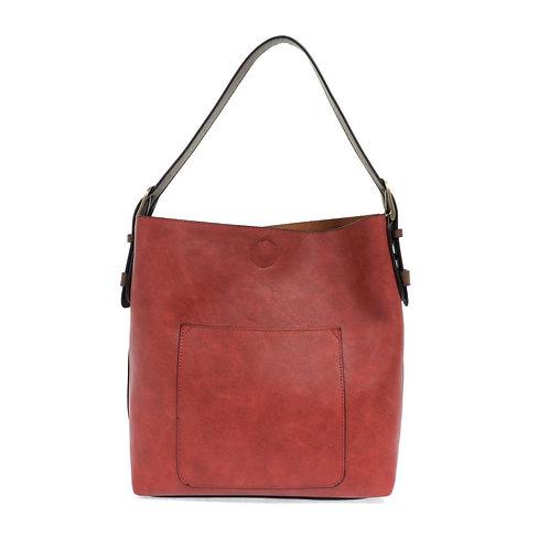 Joy Susan Hobo Handbag - Adobe Red/Coffee Strap