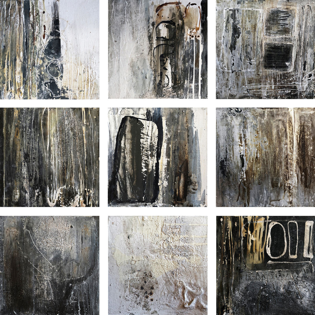 Black & Earth Series Composition 1-9