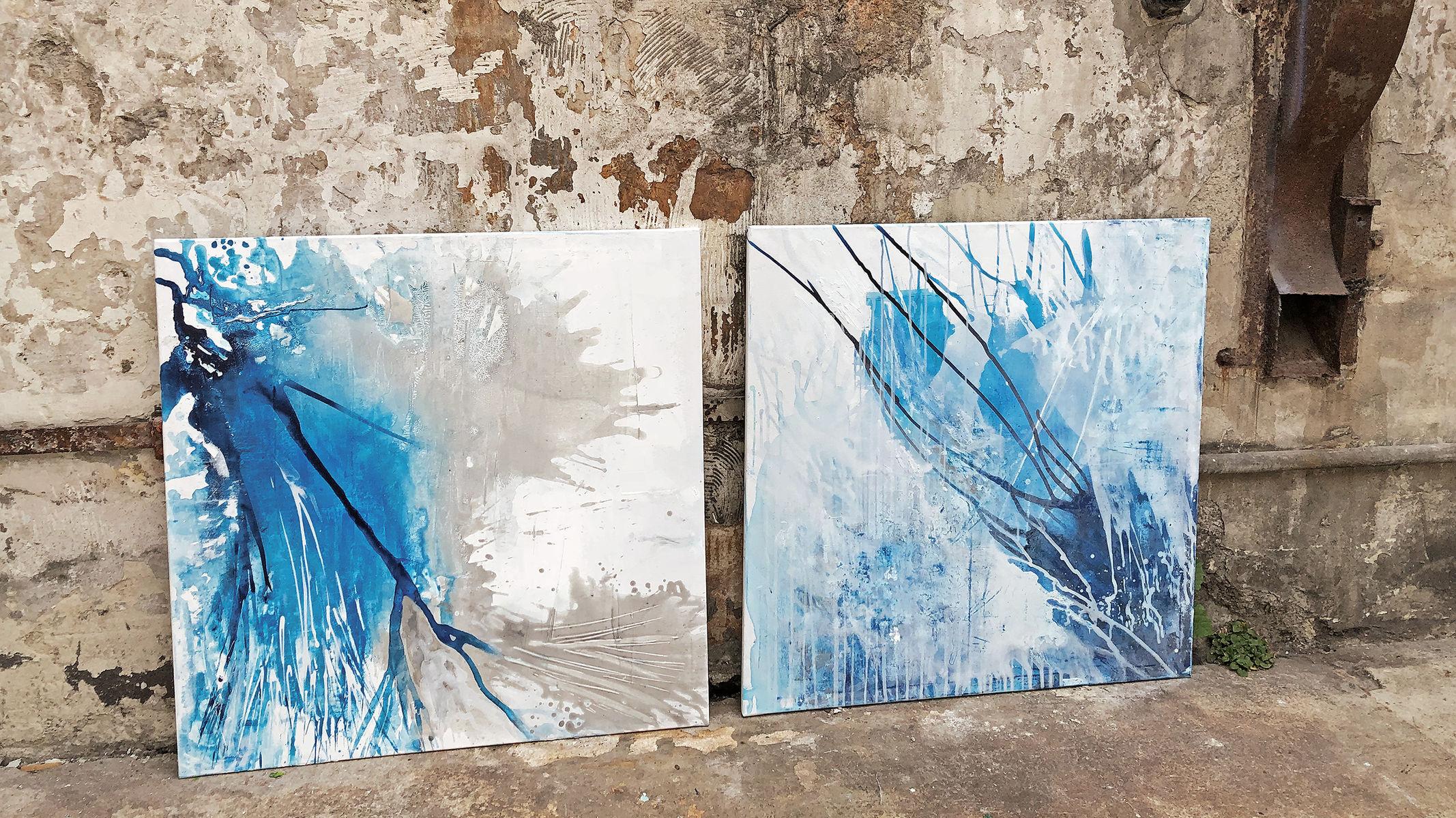 Blue Splashes I-II
