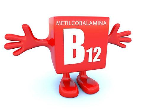 Metilcobalamina (Forma Ativa da Vitamina B12) 1000 mcg - 30 cáps