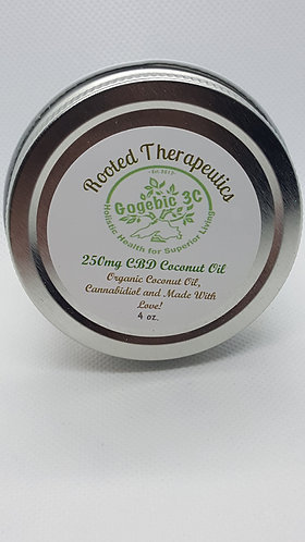 Therapeutically Infused Organic Coconut Oil 4 ounce