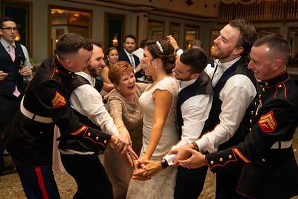 Military family wedding