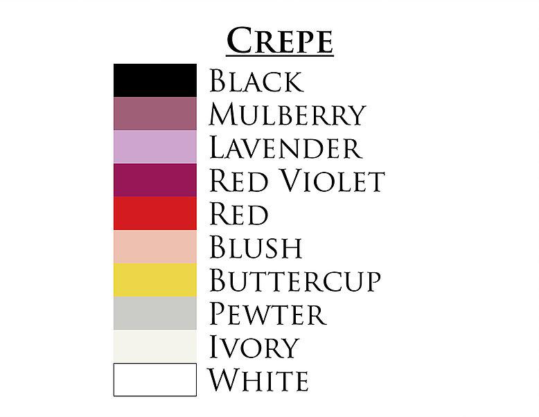 couleur de CREPE