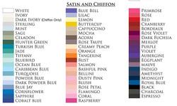 couleur de SATIN et MOUSSELINE