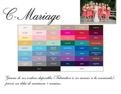Gamme couleurs cocktail C-Mariage