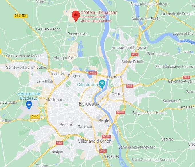 Map Agassac
