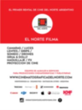 Cartel 1,95x 260 CINEMATOGRAFICA DEL NOR