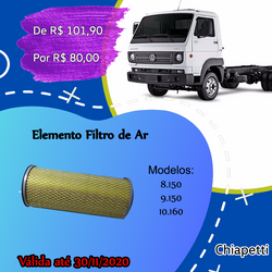 Elemento Filtro de Ar 8150-9150-10160
