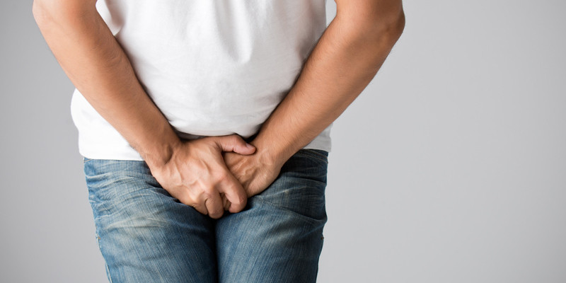 Man with pelvic floor pain