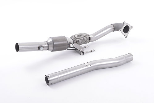 Cast Downpipe with Race Cat - with 200 Cell Race Cat. For Fitment to Milltek Spo