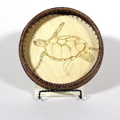 Turtle Pine Needle Basket