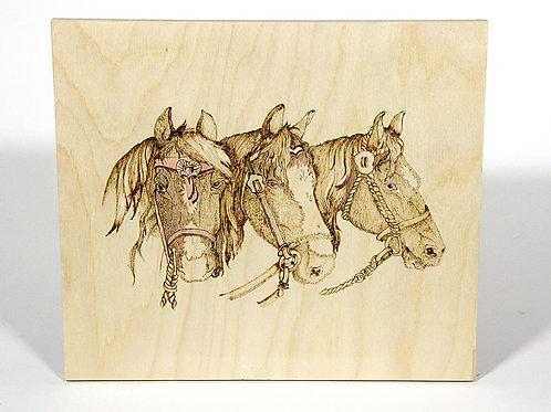 Horse Pyrography