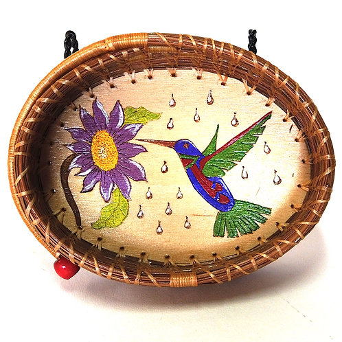 Hummingbird Pine Needle Basket
