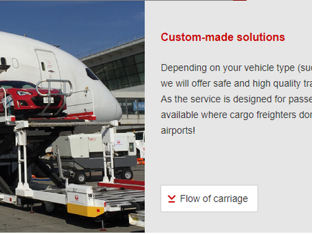 Transport solutions for vehicles by aircraft (AKEBONO)