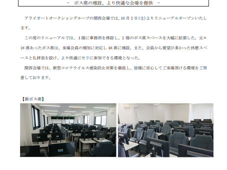 ARAI AUTO AUCTION KANSAI YARD RE-OPEN (AKEBONO)