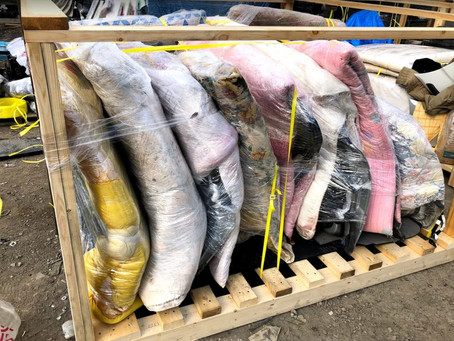 USED CAR PARTS ON PALLETS-SHIPPING
