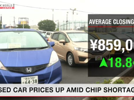 Price of used vehicles soars amid chip shortages (Akebono)