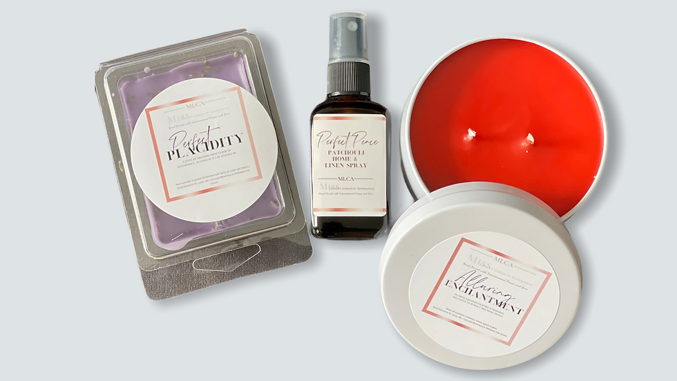 Alluring Enchantment 8 oz tin gift set w/Perfect Placidity Melts