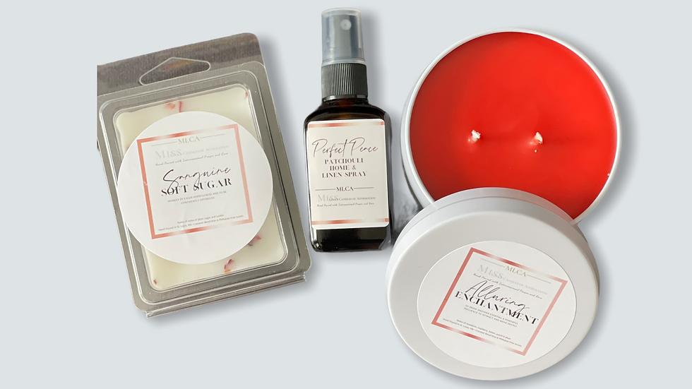 Alluring Enchantment 8 oz tin gift set w/Sanguine Soft Sugar Melts
