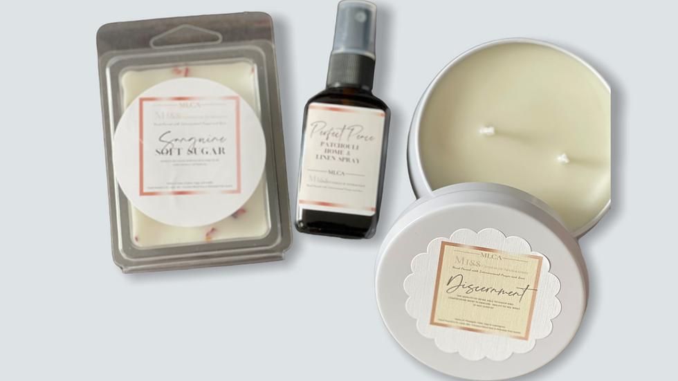 Discernment 8 oz tin gift set w/Sanguine Soft Sugar Melts