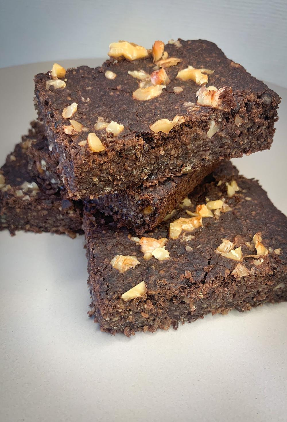 Brownie de legumbres - Nutricionista Online Karina Herrera