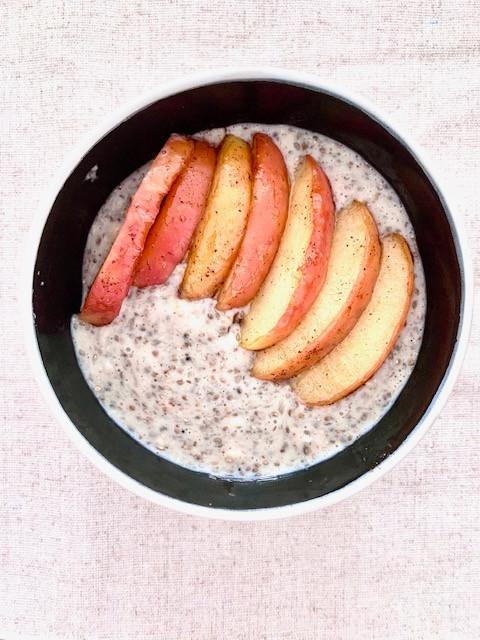 Porridge manzana-canela - Nutricionista Online Karina Herrera