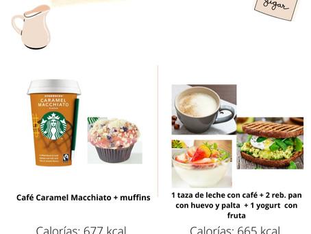 Comparación de desayunos