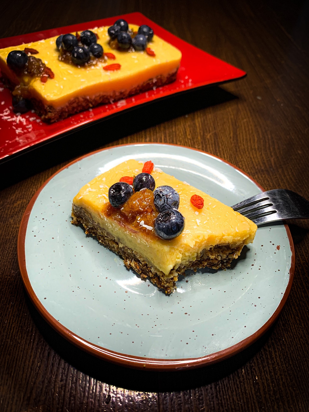 Torta helada de mango sin horno - Nutricionista Online Karina Herrera