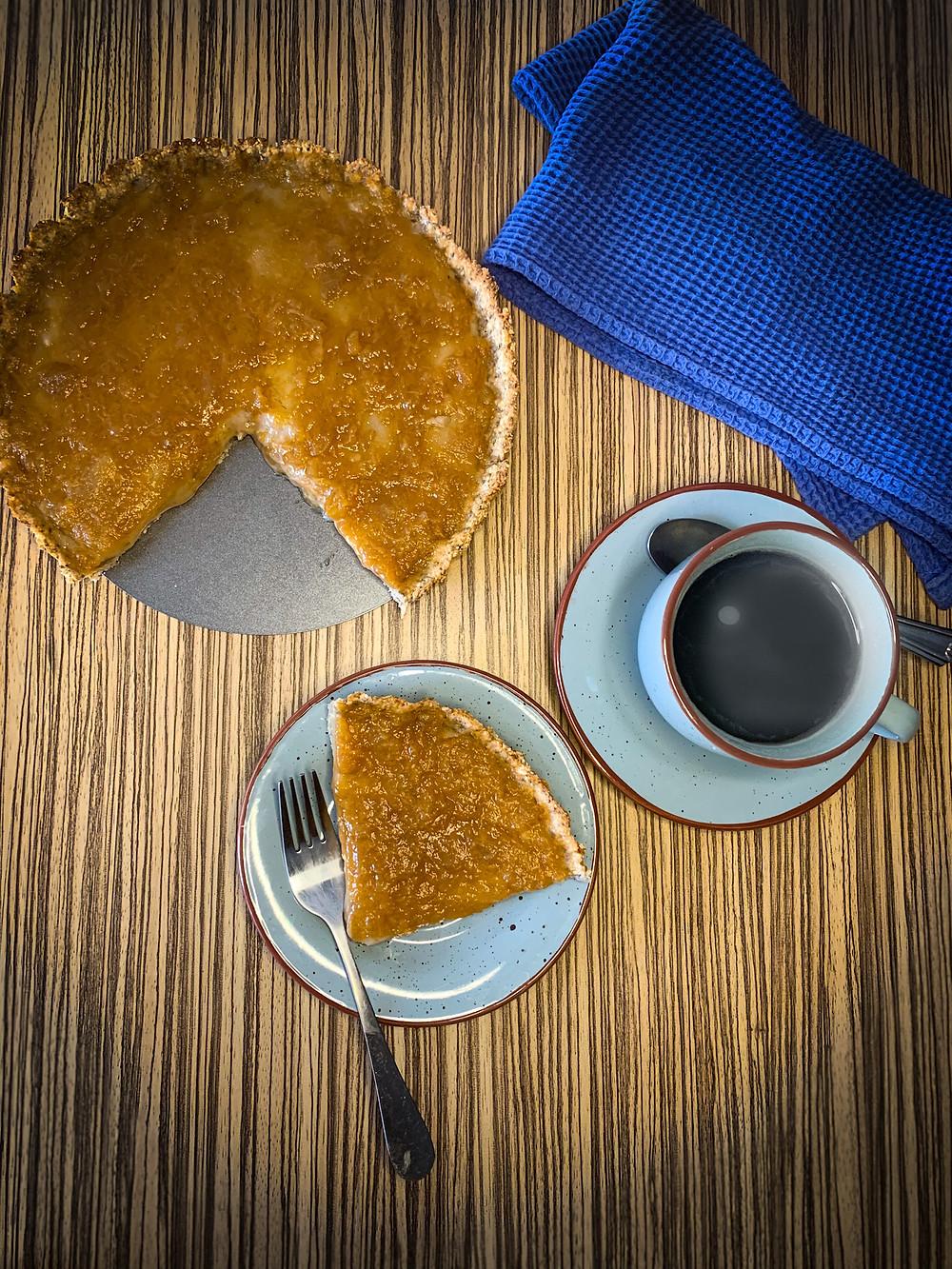 Kuchen de crema pastelera y mermelada - Nutricionista Online Karina Herrera