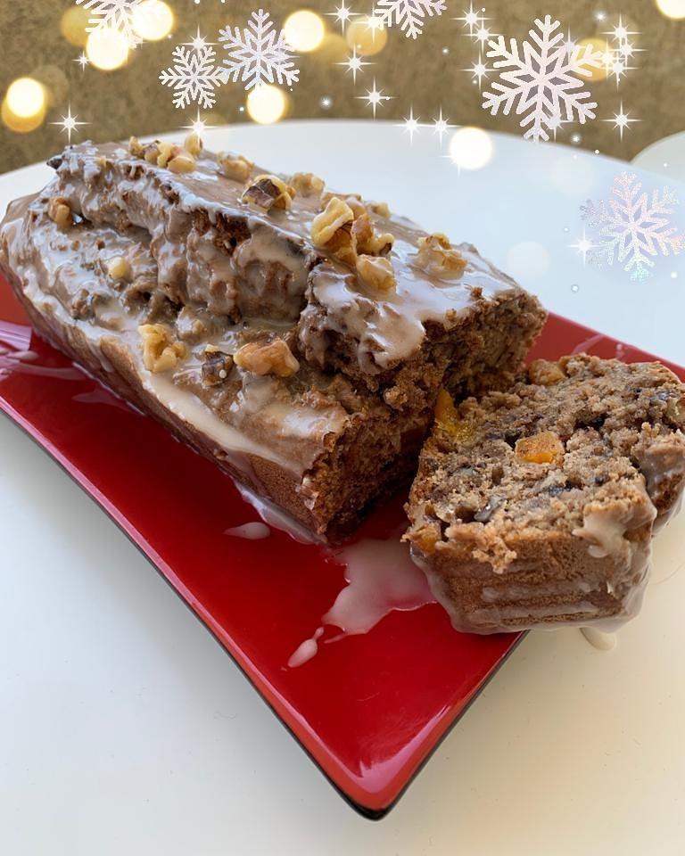 Queque navideño de nueces, damascos turcos y chocolate - Nutricionista Online Karina Herrera