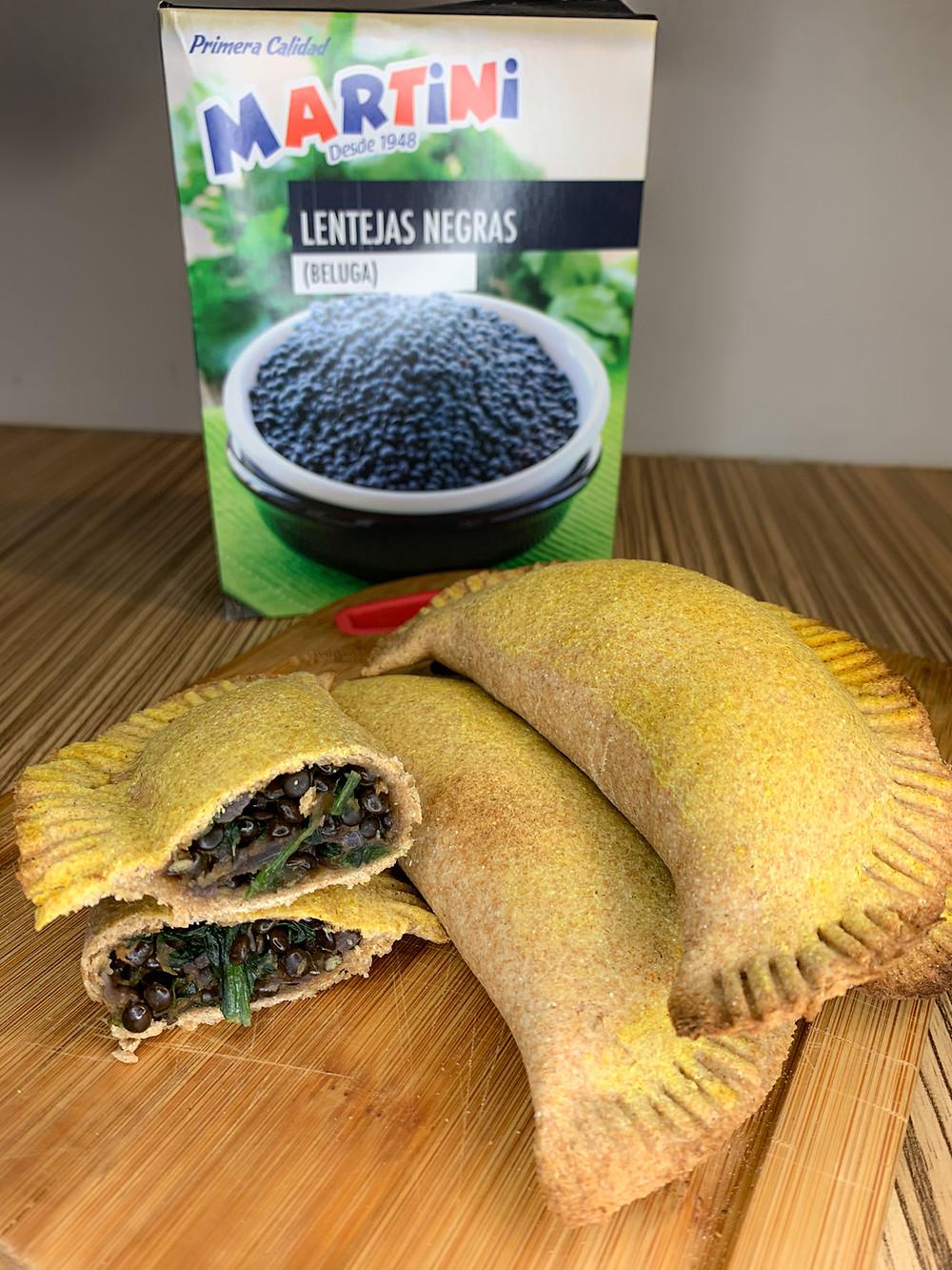 Empanadas integrales de lentejas negras Martini - Nutricionista Online Karina Herrera