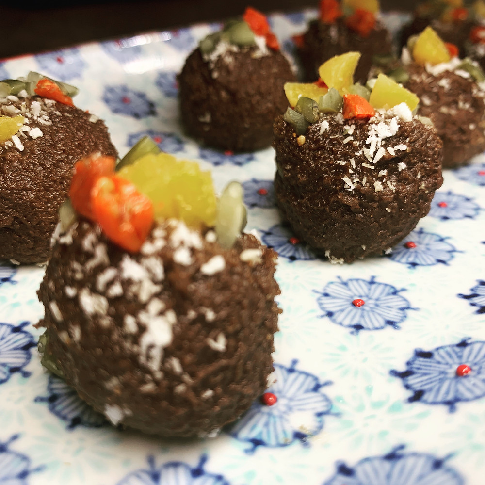 Bolitas de palta y cacao - Nutricionista Online Karina Herrera