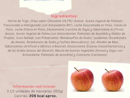 Galletas dulces v/s Fruta