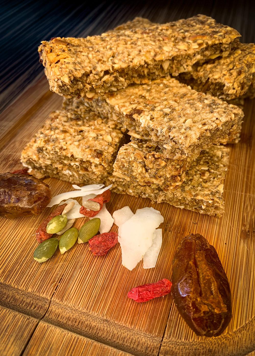 Barra de cereal: manzana y canela - Nutricionista Online Karina Herrera