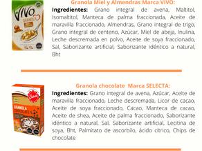 Comparación de granolas comerciales