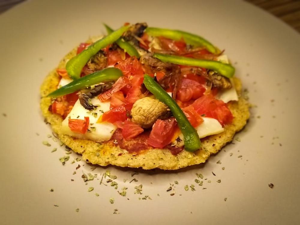 Pizza de arroz integral - Nutricionista Vegetariana Karina Herrera