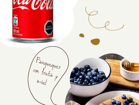 Comparación Coca Cola v/s Comida real