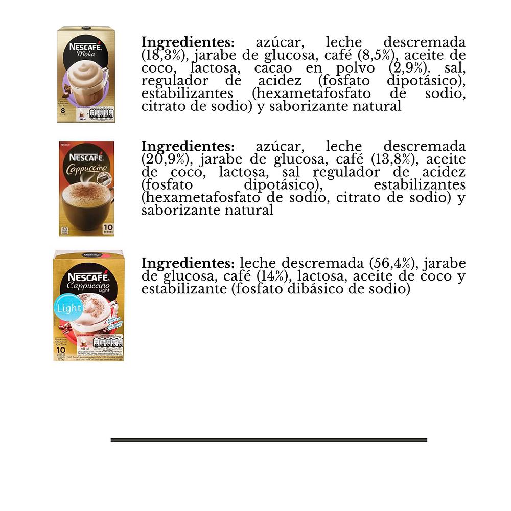 Ingredientes café en polvo
