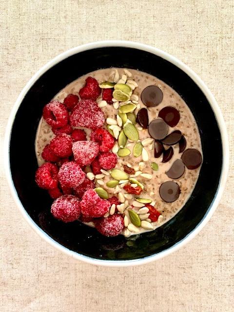 Porridge de avena Chocolatoso - Nutricionista Online Karina Herrera